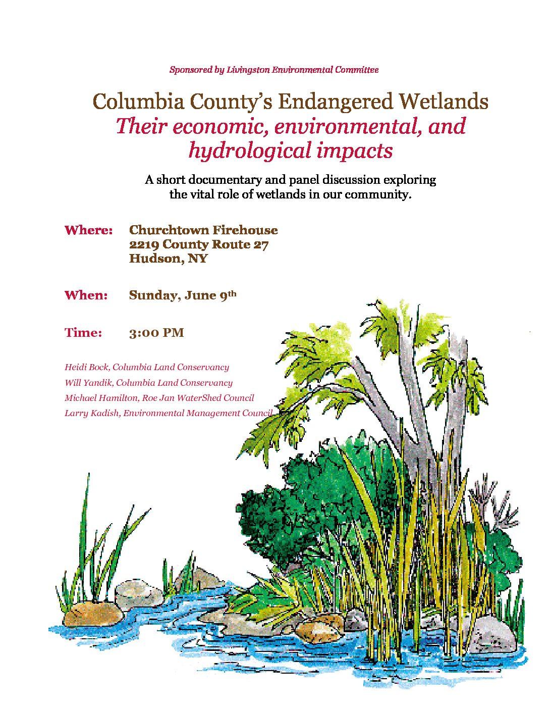 Columbia County's Endangered Wetlands